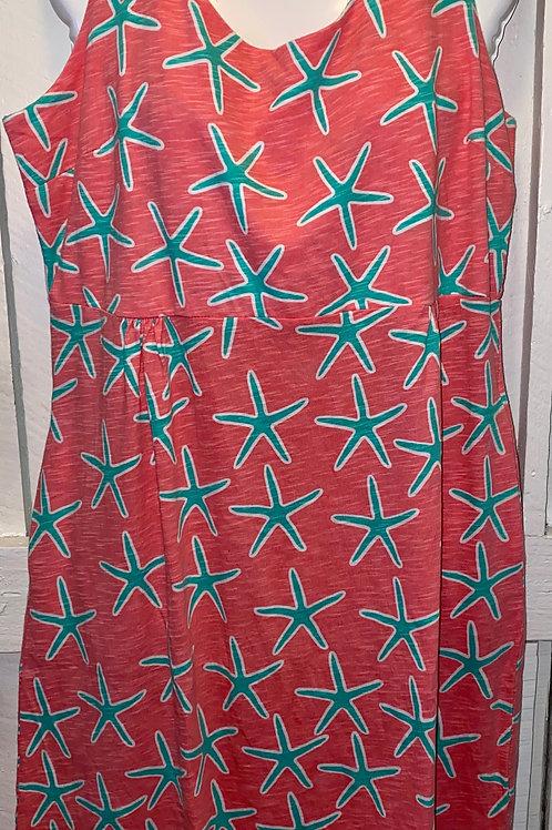 Sea Star Tank Dress in Coral