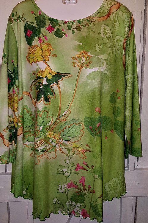 Hummingbird Blouse in Green