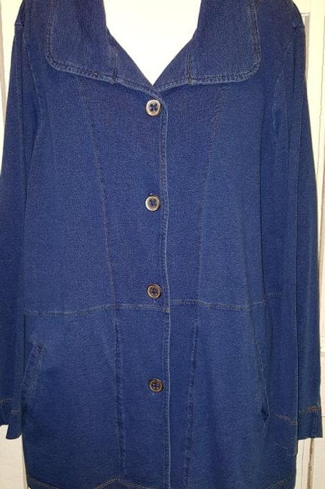 Button Up Jacket in Denim