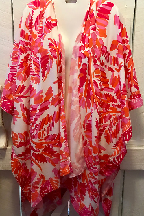 Trudy Beach Cover Up in Pink & Yellow