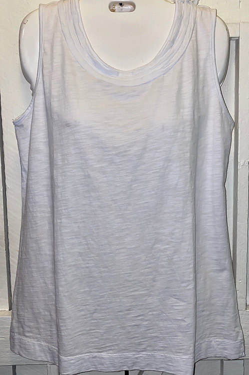 Gathered Tank Top in White