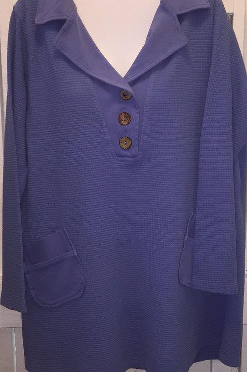 Thermal Pullover Sweater in Peri