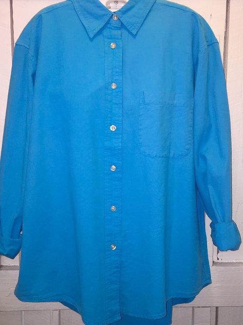 Boyfriend Button up in Turquoise