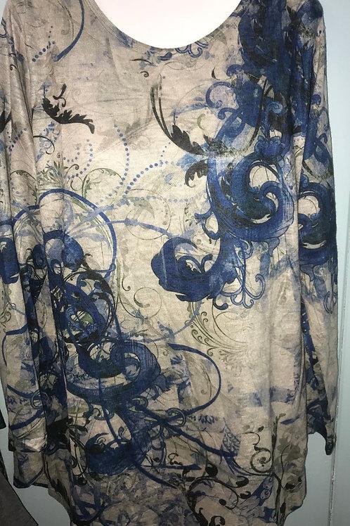 Paisley Swirl In Blue