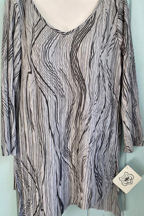 Wavy Tunic in Grey