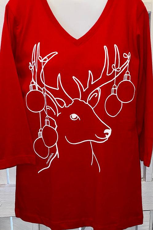 Deer Balls in Red