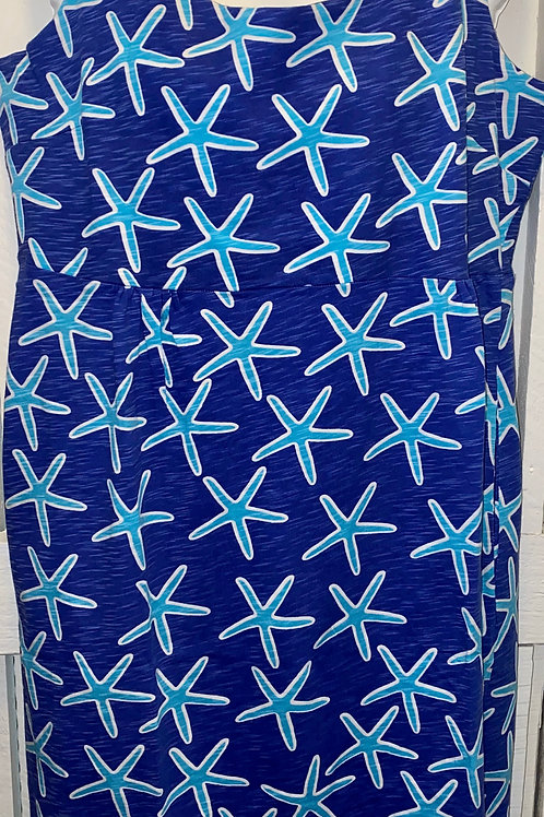 Sea Star Tank Dress in Blue