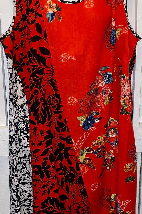 Red, Black, & White Dress