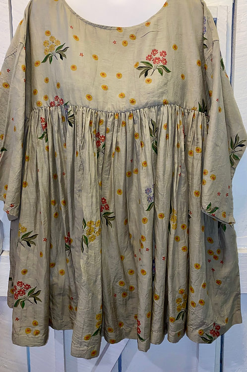 Floral Tunic in Taupe