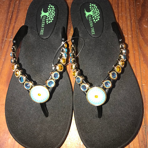 Daisy Sandals in Black