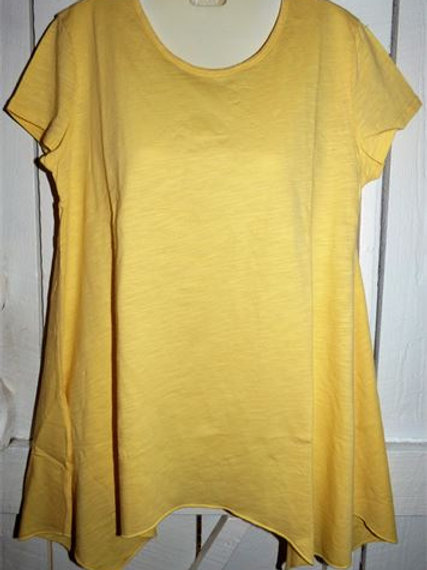 Short Sleeve Asymmetrical Tunic In Butter