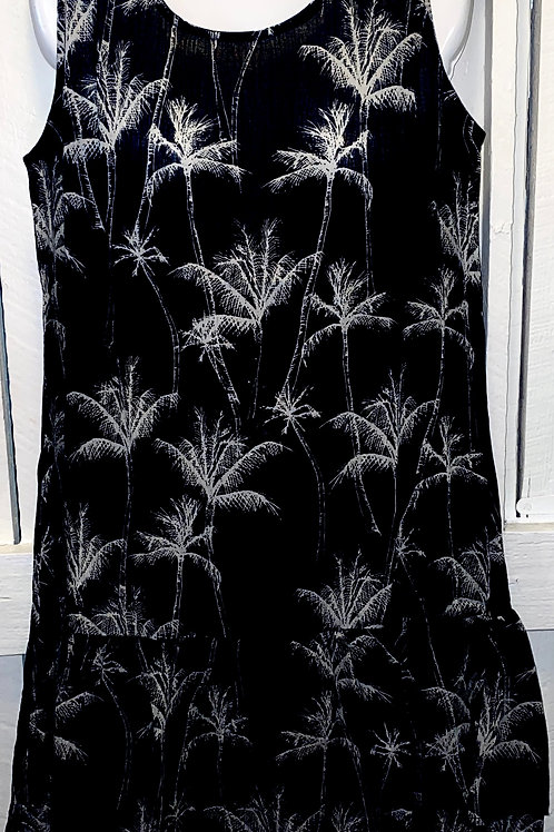 Palm Tree Dress in Black