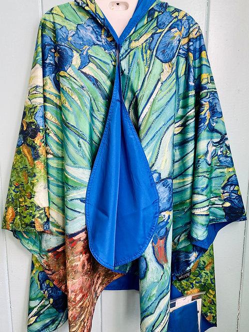 Rain Coat in Van Gogh Irises