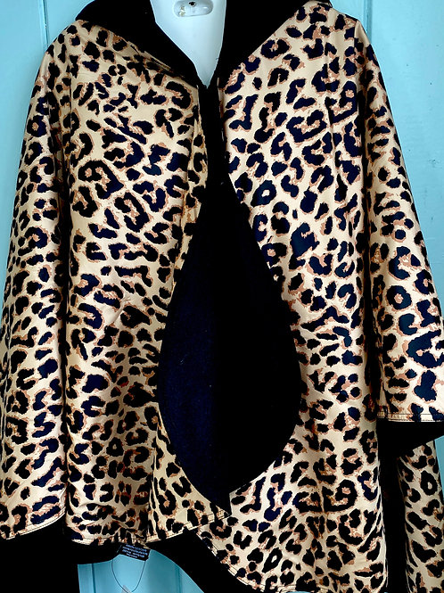 Warm Rain Coat in Cheetah Print
