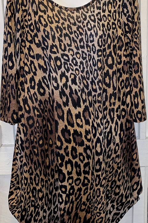 Cheetah Dress in Brown