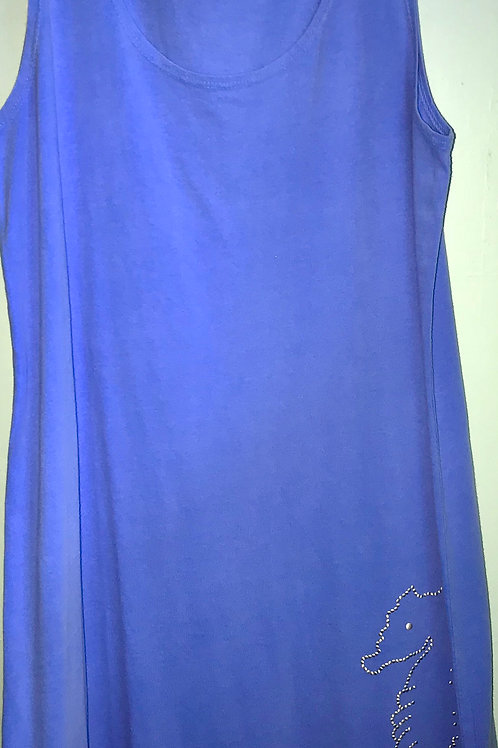 Hold Your Horses A-Line Tank Dress in Periwinkle