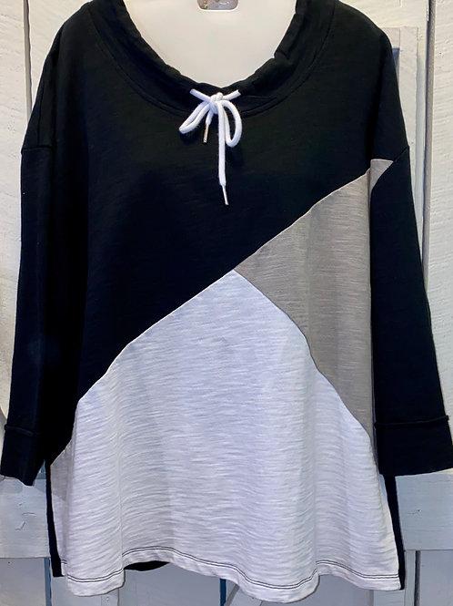 Color Block Sweatshirt in Taupe