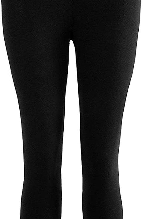Jersey Cotton Capri Legging in Black