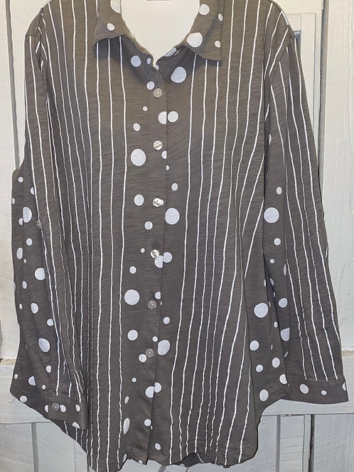 Polka Dot Tunic in Taupe