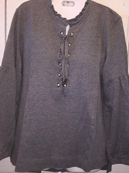 Criss Cross Tunic in Grey