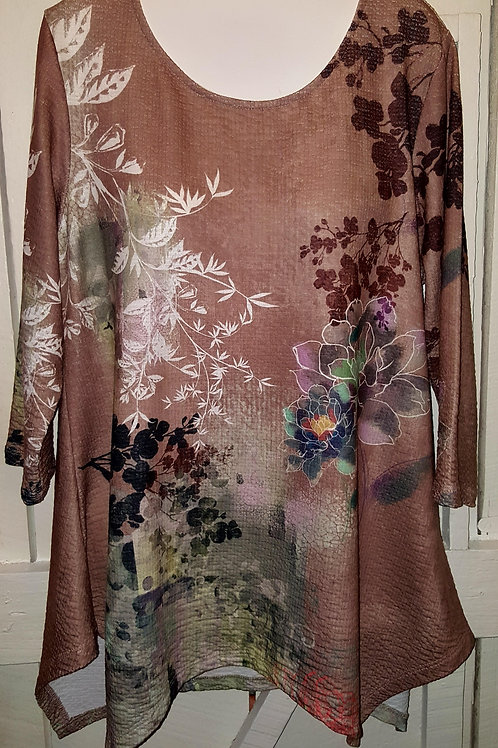 Lotus Flower Tunic in Taupe
