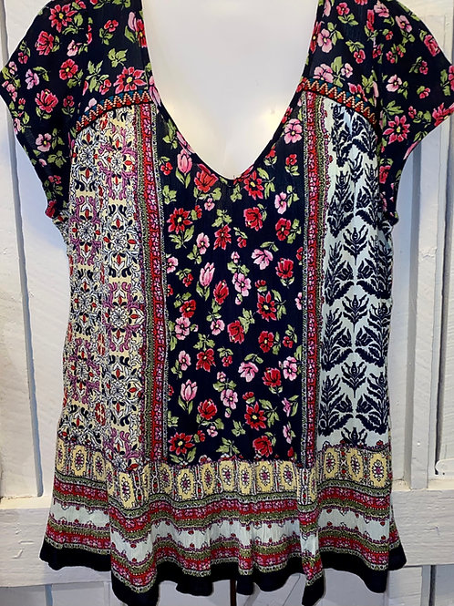 Rose Blouse in Navy