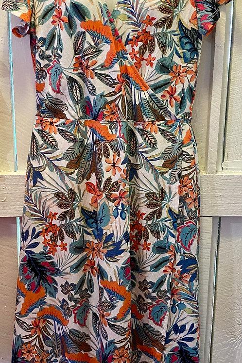 Peacock S/S Dress in Aloe
