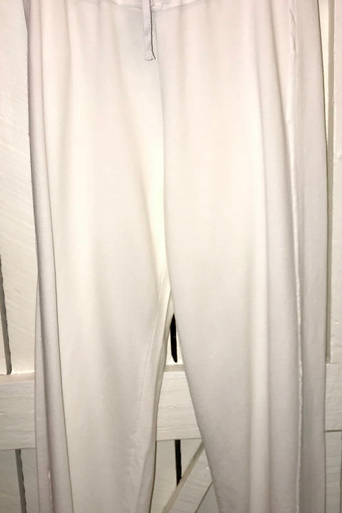 French Terry Open Seam Capri's in White