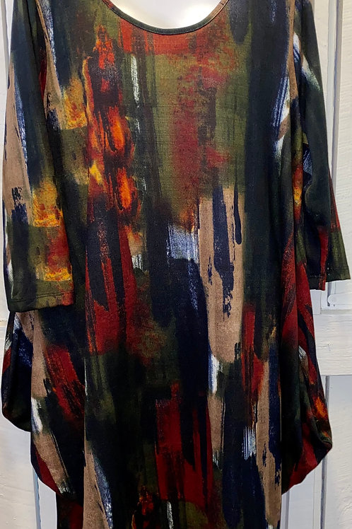 Abstract paint Dress in Mutli Color