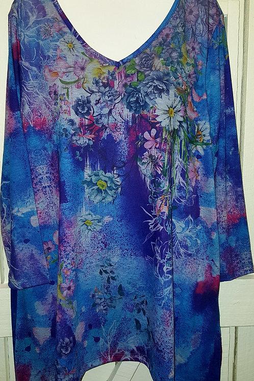 Daisy Blouse in Purple & Blue