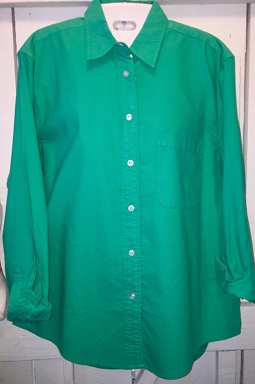 Boyfriend Button up in Sea Green