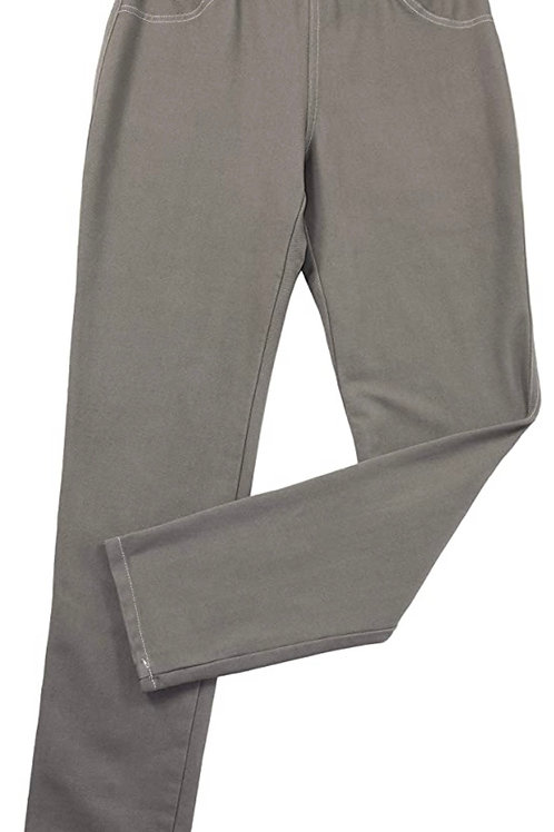 Stretch Denim Pant in Taupe