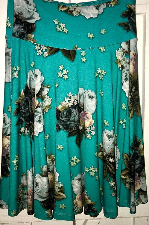 Classic Rose Skirt in Green