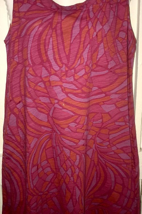 Larimar Square Neck Tank Dress in Wine