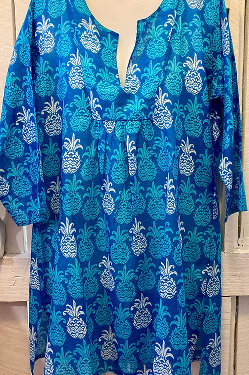 Mahalo Tunic in Tropical Blue