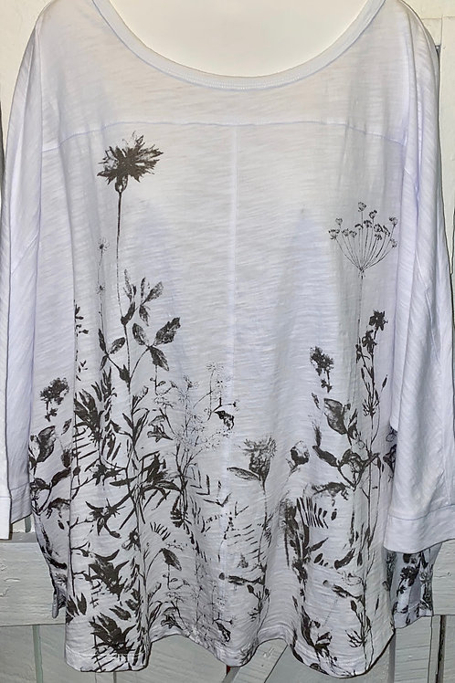 Wild Flowers Blouse in Taupe