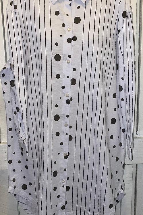 Polka Dot Tunic in White