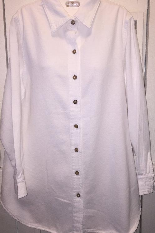 Boyfriend Button Up in White