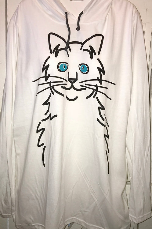 Blue Cat Eyes Slub Hoodie