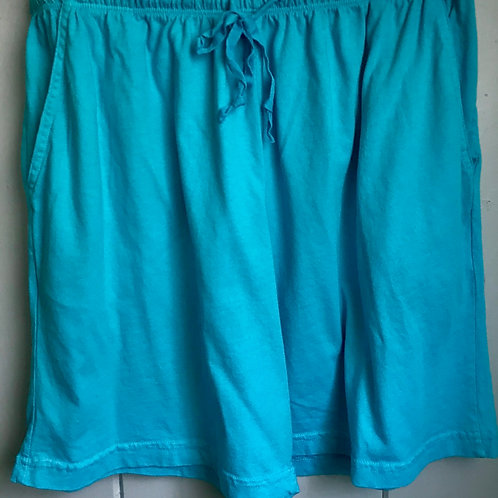 Jersey Cotton Shorts In Blue