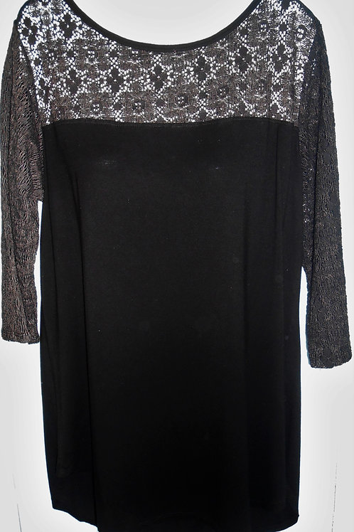 Embroidered Blouse In Black