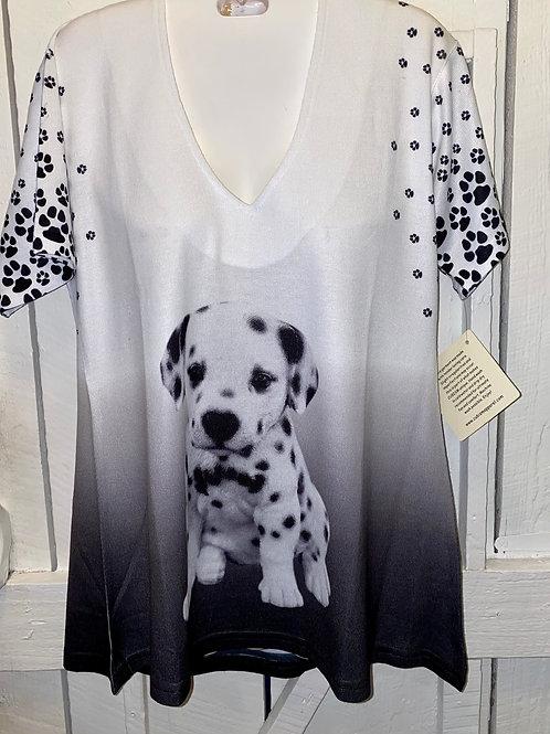Dalmatian Tee in Black & White