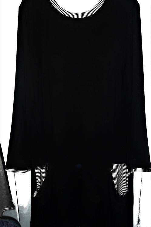 Striped Black Dress