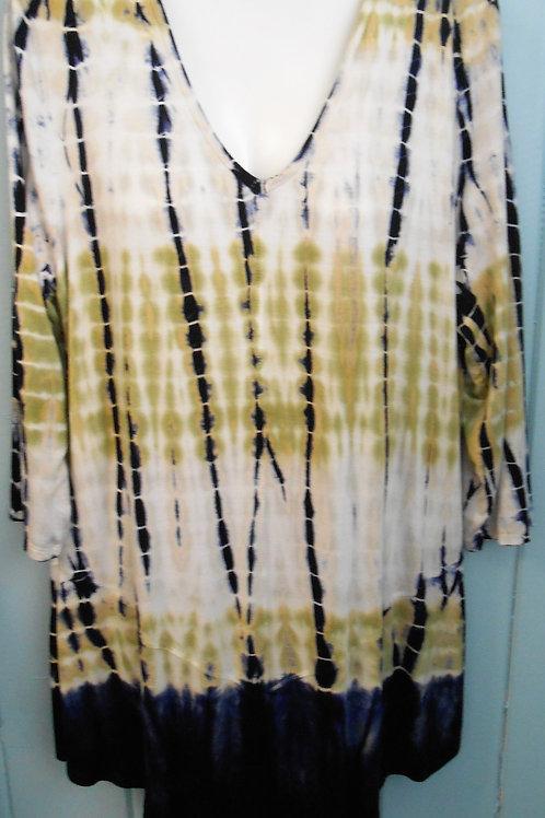 Tye-Dye Tunic In Olive