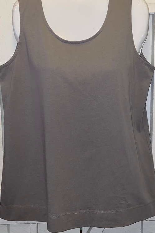 Cotton Tank Top in Taupe