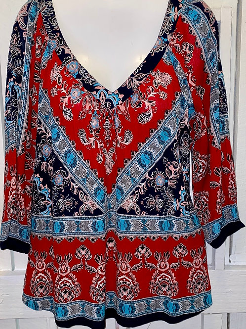 Paisley Blouse in Red