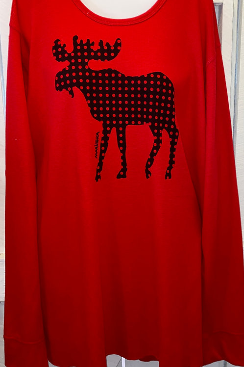 Thermal Moose Tunic in Red