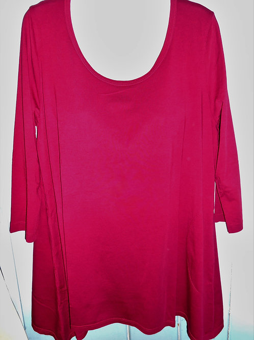 Trapeze Tunic In Wine