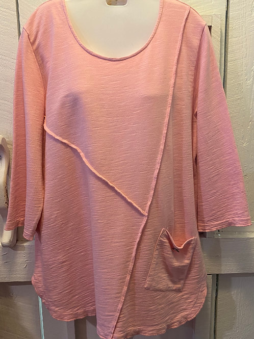 French Terry Tunic in Blush