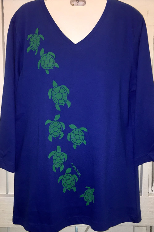 Turtle March in Royal Blue